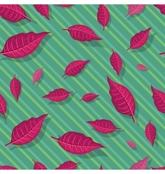 Red leaves seamless pattern vector