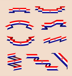 ribbons or banners in colors of croatian flag vector image