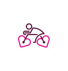 Romance bike logo icon design vector