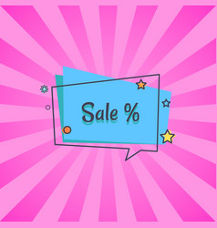 sale banner in square speech bubble star vector image