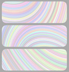 Set of light colored banner backgrounds vector