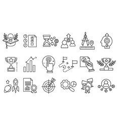 Set of line icons smart solution new vector