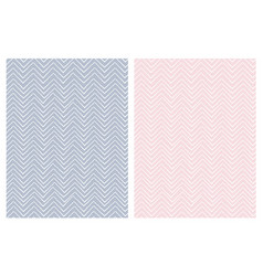 set of seamless cute chevron patterns vector image