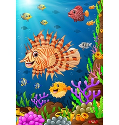 under the sea vector image