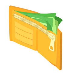 wallet dollar icon isometric style vector image