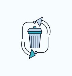 Waste disposal garbage management recycle flat vector