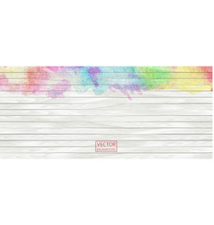 watercolor rainbow wood banner wood plank vector image