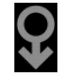 White halftone impotence symbol icon vector