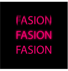 word fashion written three times with a pink vector image