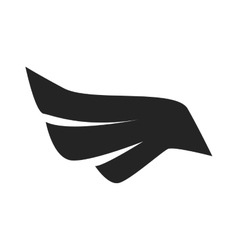 Black bird wings on white background vector image
