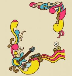 doodle rock poster 2 vector image