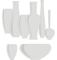isolated set ceramics vases vector image