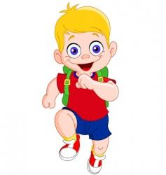 running schoolboy vector image vector image