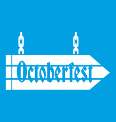 sign octoberfest icon white vector image vector image