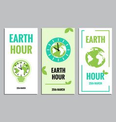 template of earth hour or daylight saving time vector image vector image