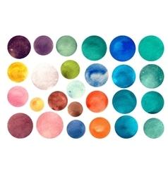 Watercolour circle textures vector