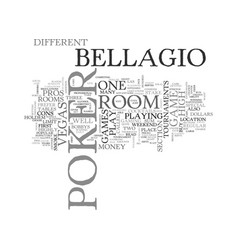 bellagio poker room reviewed text word cloud vector image