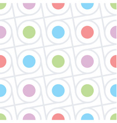 circles and dots seamless texture vector image vector image