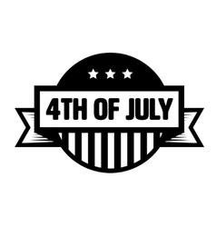 Fourth of July vintage stamp vector image vector image