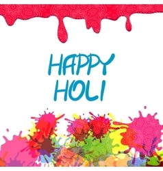 Indian festival colored Happy Holi vector image vector image