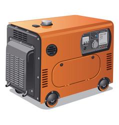 power generators on wheels vector image vector image