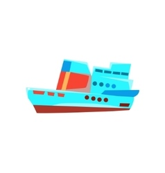 Cruise liner toy boat vector