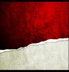 Grunge wall with broken edge vector image vector image