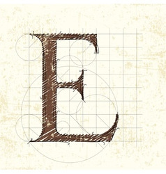 letter e vector image vector image