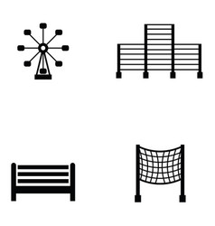 playground icon set vector image