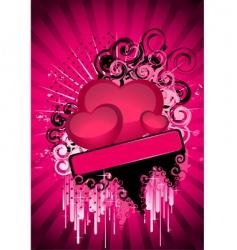 valentine banner vector image