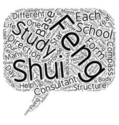 Feng shui study text background wordcloud concept vector