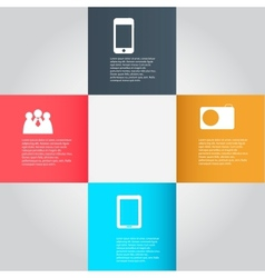 Infographic business template vector image