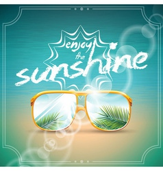 Summer Holiday Design with sunglasses vector image