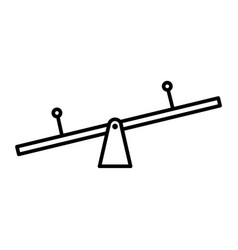 Thin line see saw icon vector