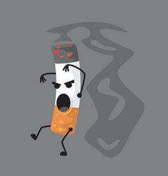 a character smoking a vector image