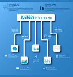 Abstract digital infographic concept vector