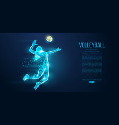 Abstract silhouette volleyball player woman girl vector
