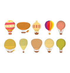 Air ballon icon set cartoon style vector