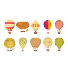 air ballon icon set cartoon style vector image