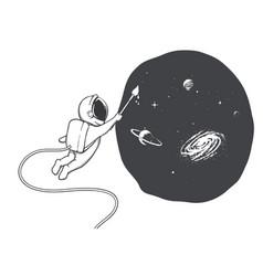 astronaut artist vector image