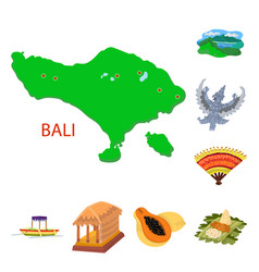 Bali and indonesia symbol vector