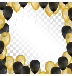 Balloons on transparent background Gold and black vector