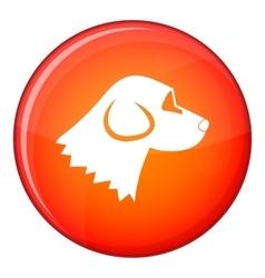 Beagle dog icon flat style vector image
