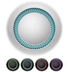 Blank round illumitated buttons vector image