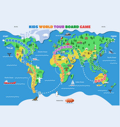 board game world gaming map boardgame with vector image