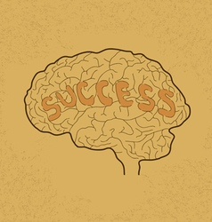 Brain Success vector image
