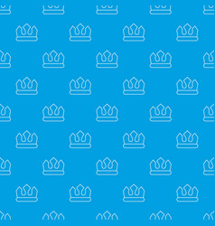 Bronze crown pattern seamless blue vector