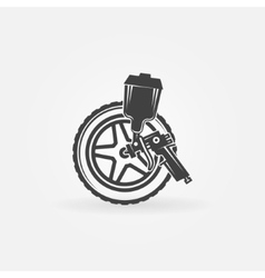 Car wheel paint vector