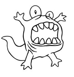 Cartoon monster big head vector