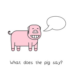 cartoon pig funny game vector image